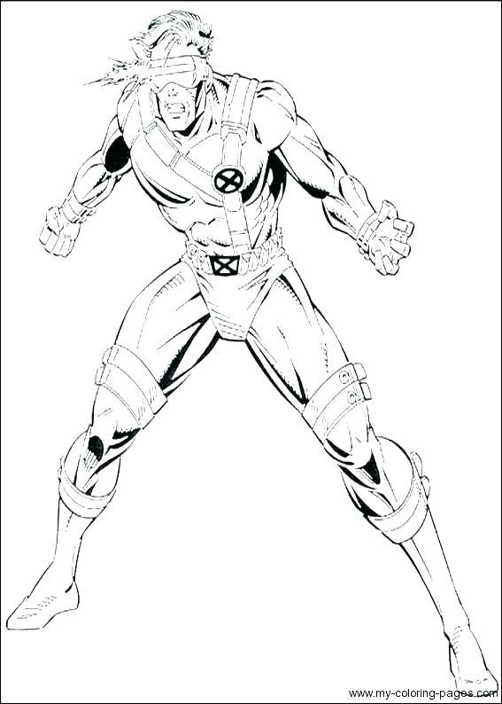567x794 X Men Coloring Page X Men Cyclops Coloring Es This Is Pictures E