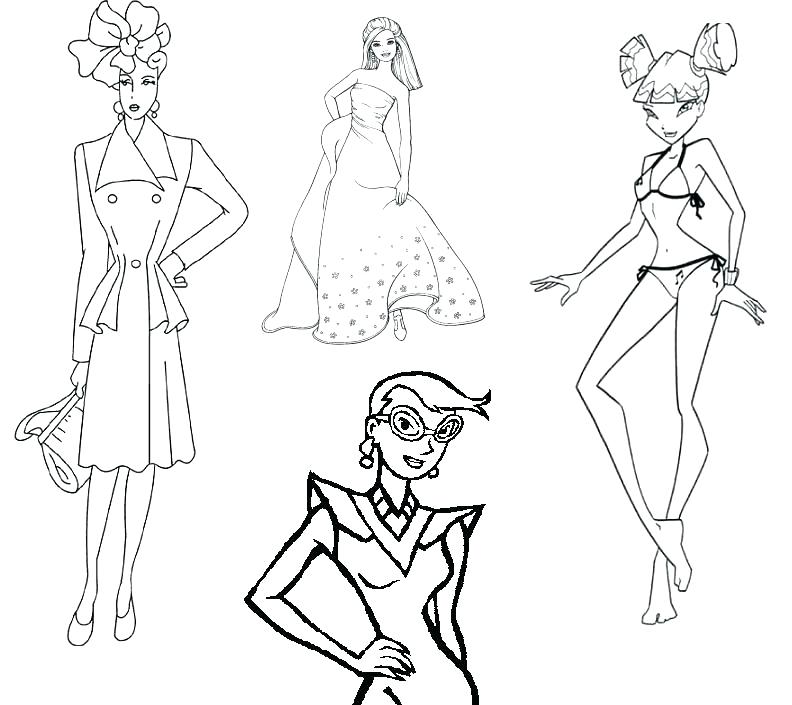 792x705 Barbie Fashion Coloring Pages Fashion Coloring Pages Fashion