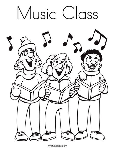 468x605 Music Class Coloring Page