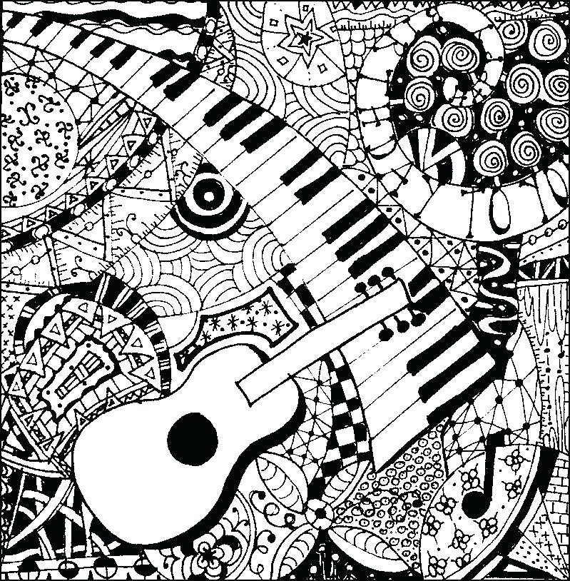 799x814 Music Coloring Page Music Coloring Pages Abstract For Adults Notes