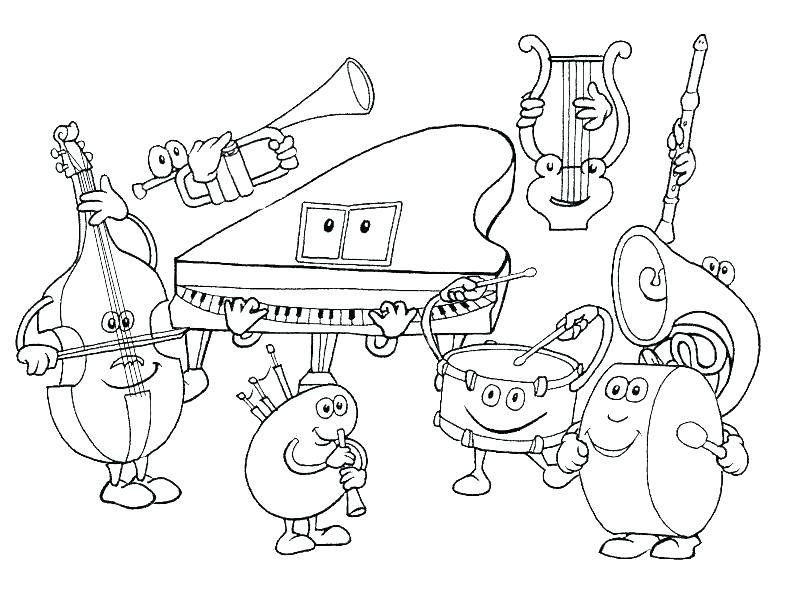 800x600 Music Coloring Pages Musical Instruments Music Coloring Pages