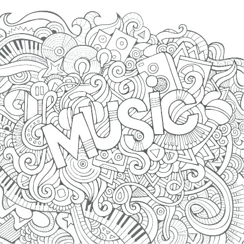 500x500 Printable Music Coloring Pages Musical Instruments Coloring Pages