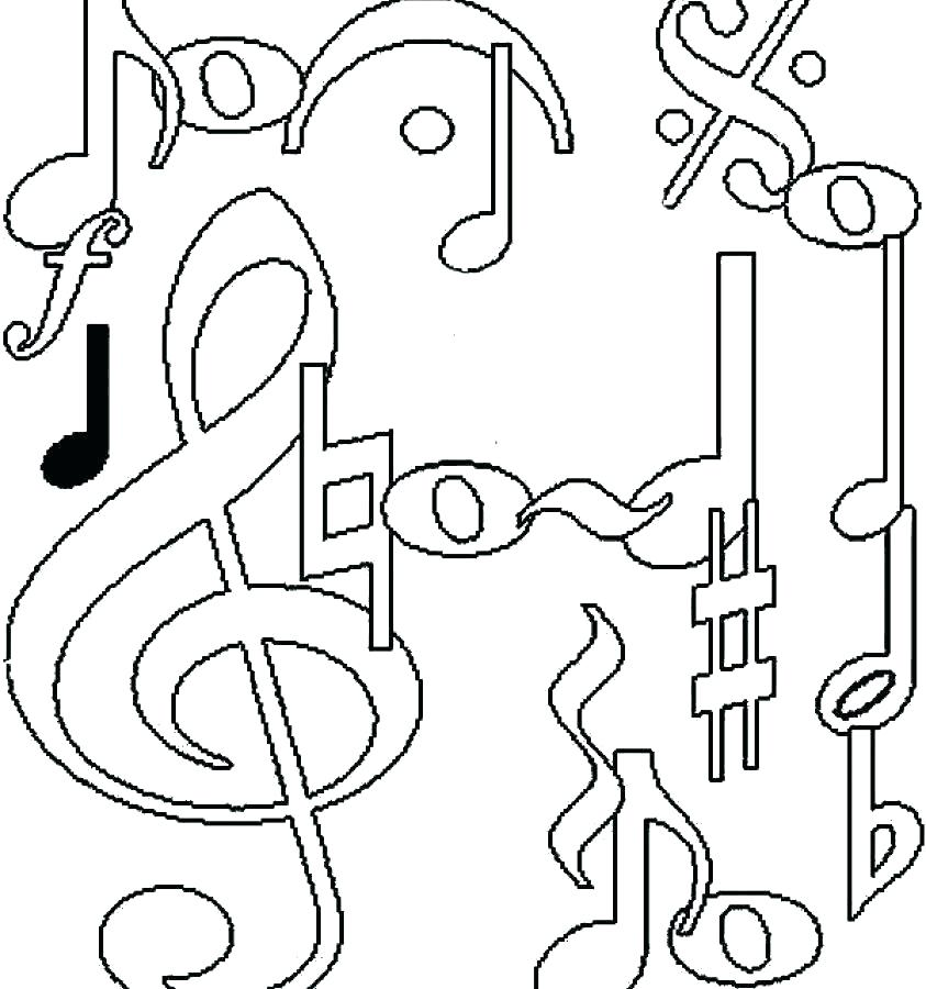 843x900 Musical Coloring Pages