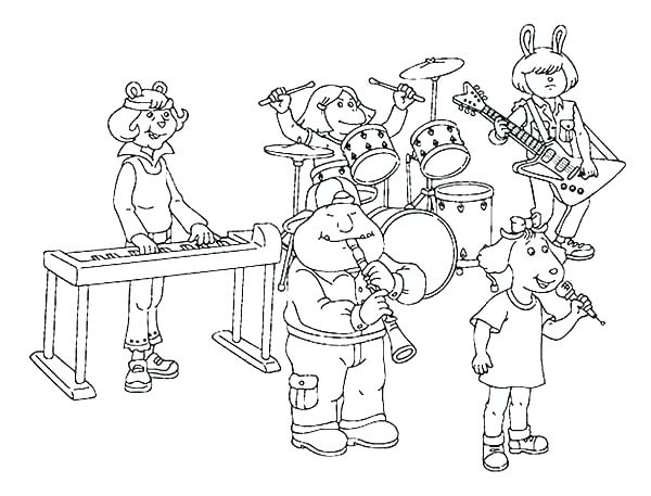 600x457 Musical Instruments Coloring Pages