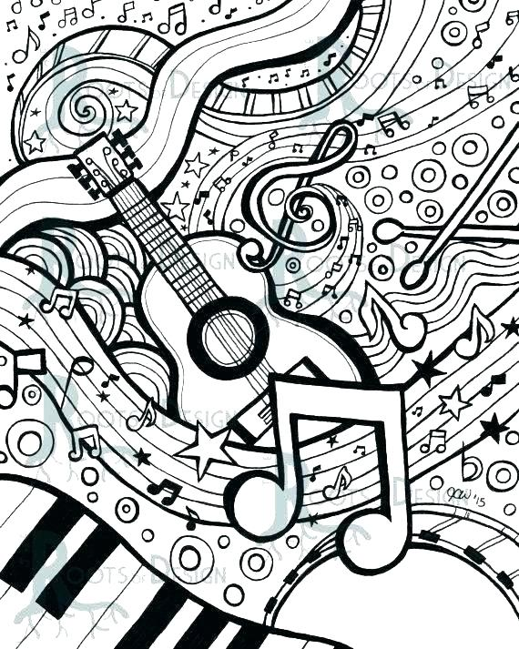 Coloring Pages Musical At Getdrawings Com Free For