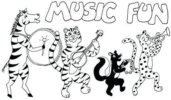 600x353 Coloring Pages Of Musical Instruments Music Color Sheets Coloring