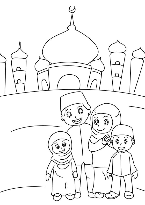 Coloring Pages Muslim