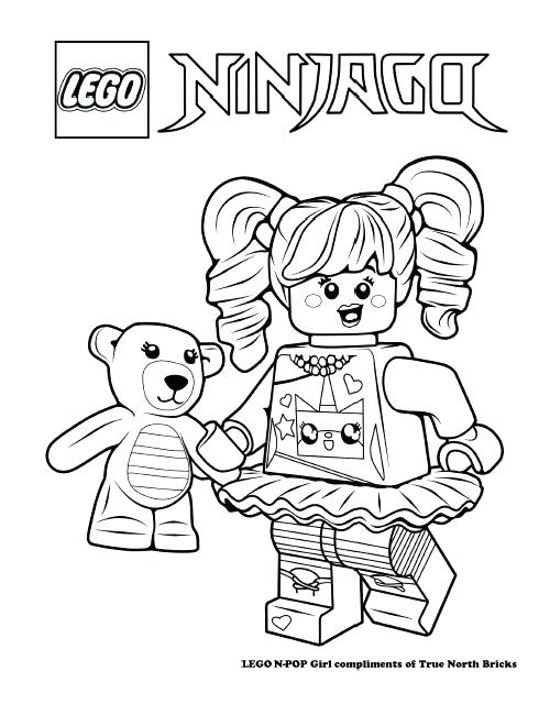 500x640 Lego Girl Coloring Pages Colouring Page N Pop Girl Lego Girl