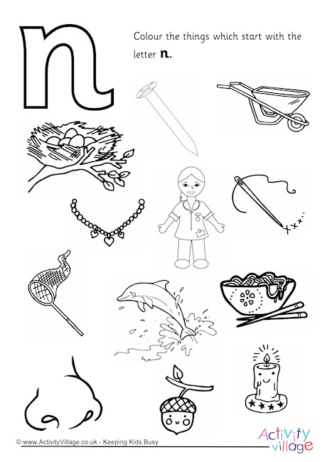 460x650 Letter N Coloring Pages
