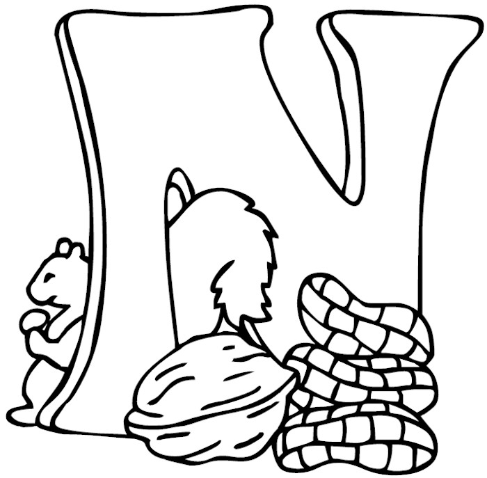 700x687 Letter N Coloring Pages