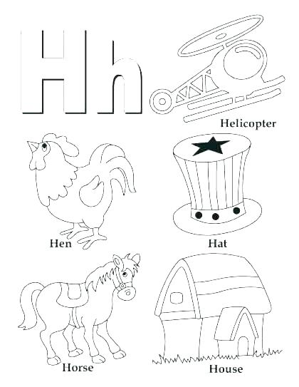 420x543 Letter N Coloring Page