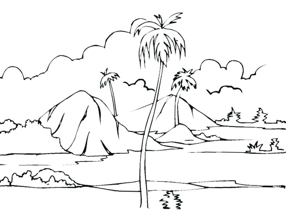 970x728 Nature Coloring Page Nature Scene Coloring Pages Nature Coloring