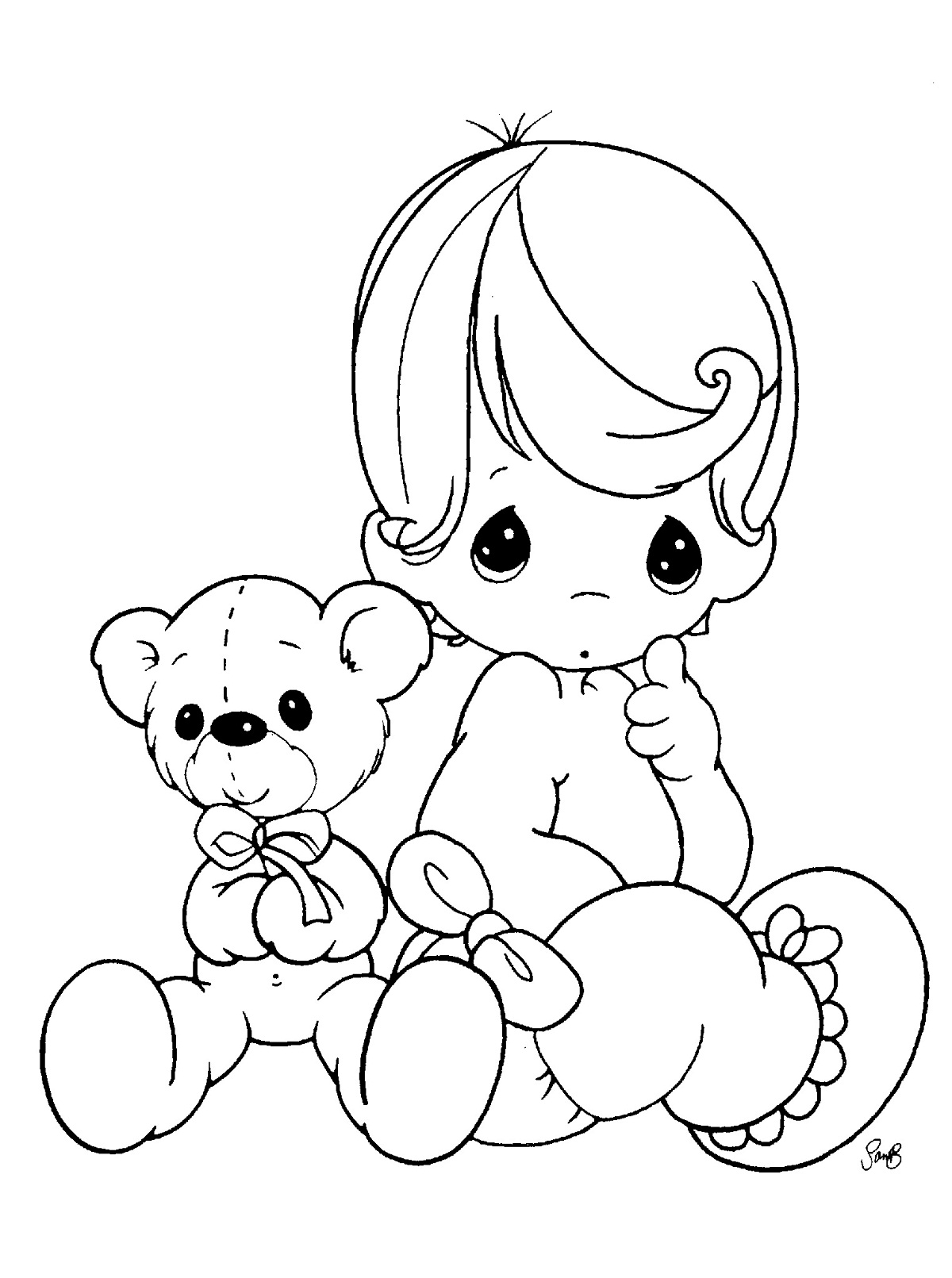 1200x1611 Baby Coloring Pages