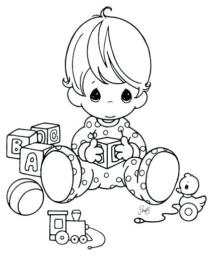421x512 Baby Coloring Pages Dolphin Babies Coloring Page New Baby Boy