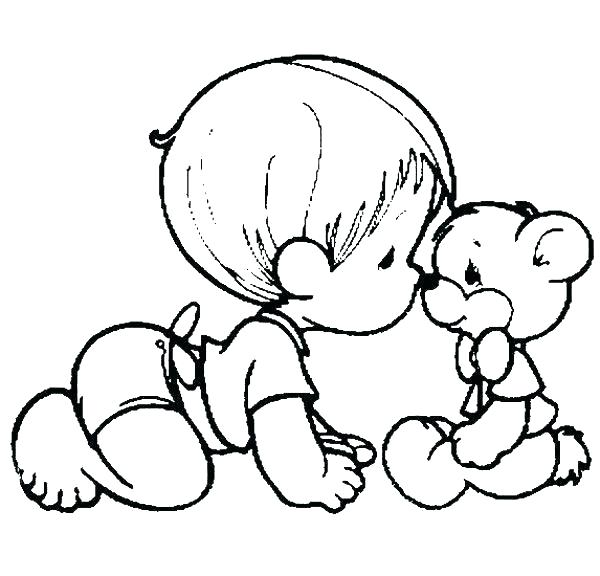 600x576 Coloring Pages Baby Newborn Baby Girl Coloring Pages Precious