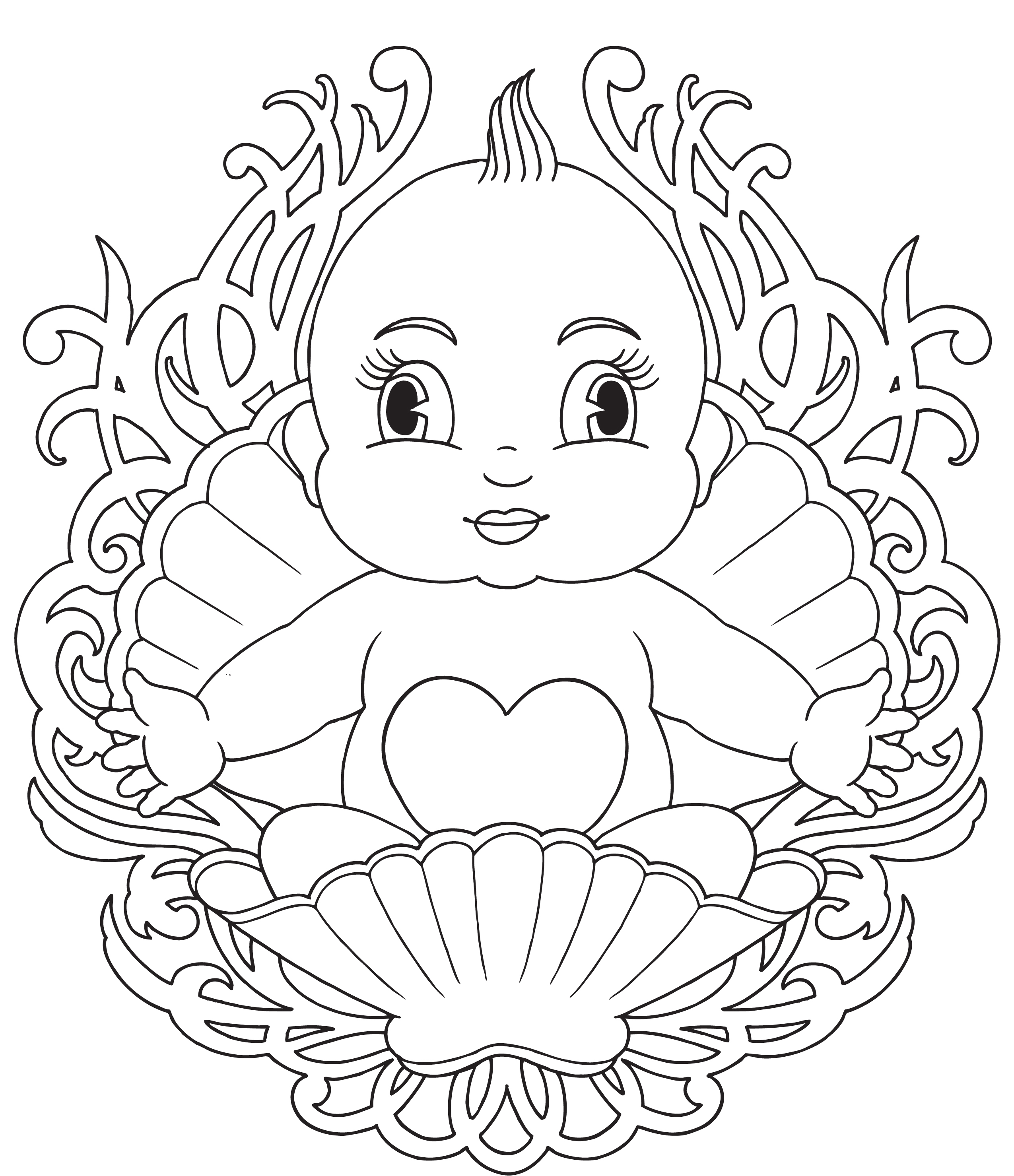 2550x2958 Free Coloring Pages Of Babies About Remodel Line Drawings