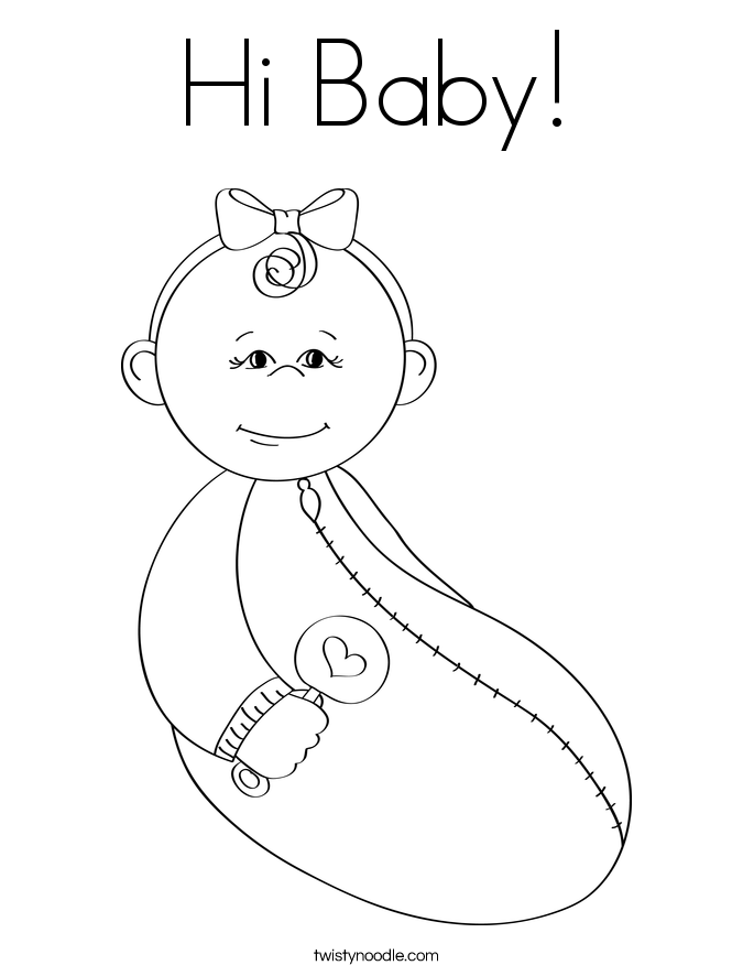 685x886 New Baby Coloring Pages