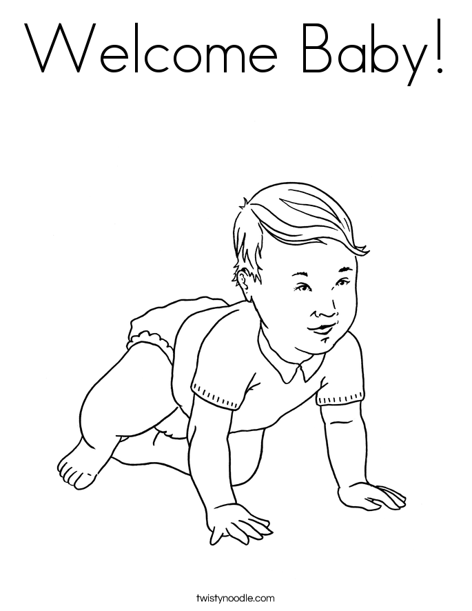 685x886 Welcome Baby Coloring Page