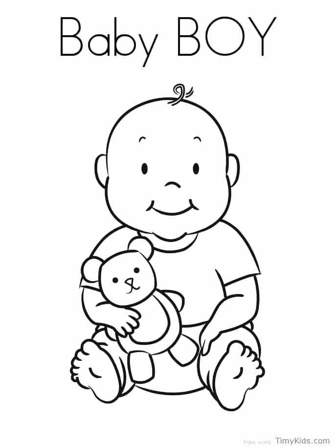 685x916 Boy Coloring Page