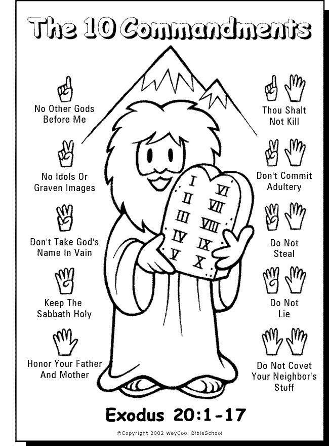650x880 Childrens Bible Kids For Free Printable Ten Commandments Coloring
