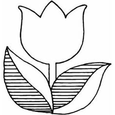 236x236 Tulip Template Printable Coloring Pages For Kids Craft Time