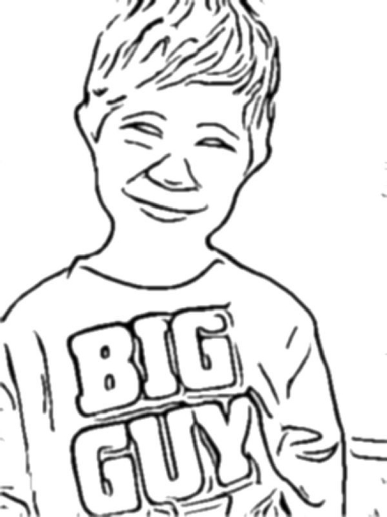 768x1024 Turn Picture Into Coloring Page Photoshop