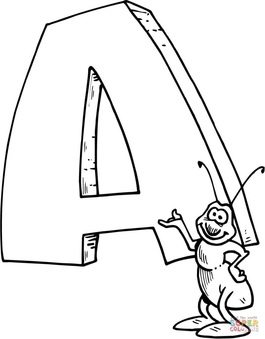 892x1142 Letter A Coloring Pages Free Coloring Pages A Coloring Page