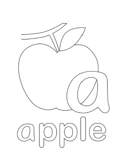 238x320 Alphabet Coloring Pages