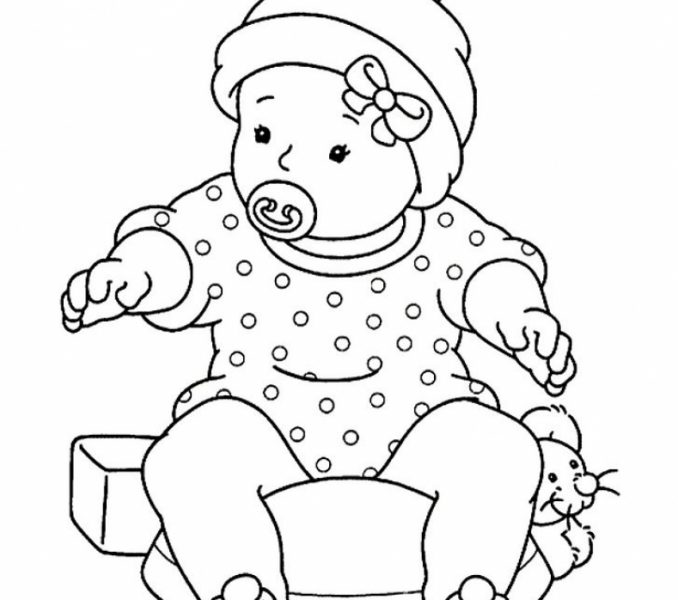 678x600 Baby Girl Colouring Pages Coloring Page