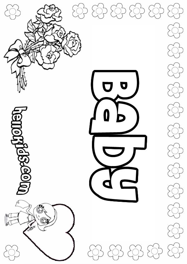 600x849 Baby Coloring Pages