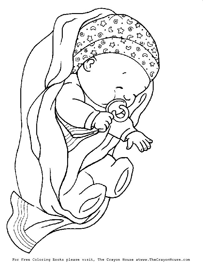 650x850 Newborn Baby Girl Coloring Pages