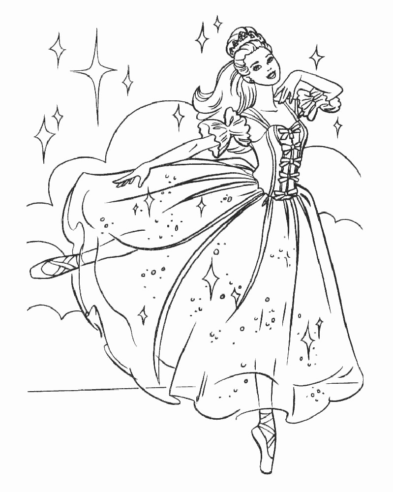 Coloring Pages Of A Ballerina
