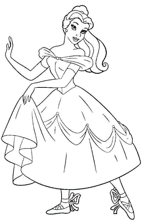 600x923 Coloring Pages Ballerina Ballerina Fifth Position Coloring Page