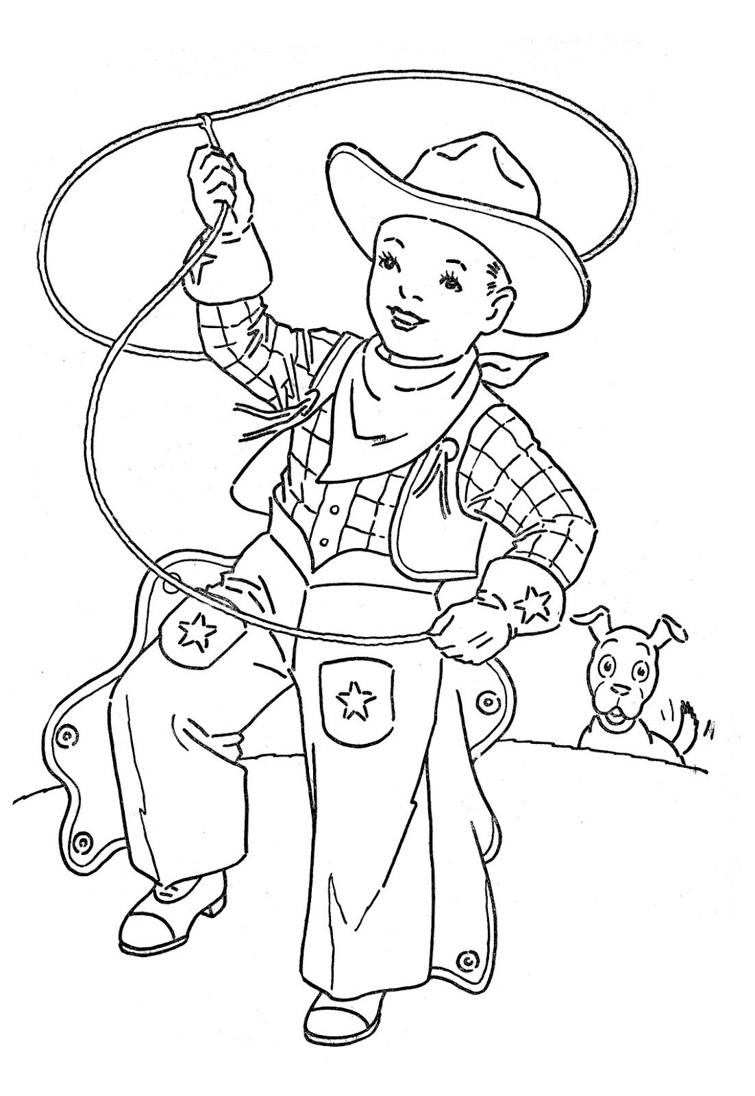 Coloring Pages Of A Cowboy