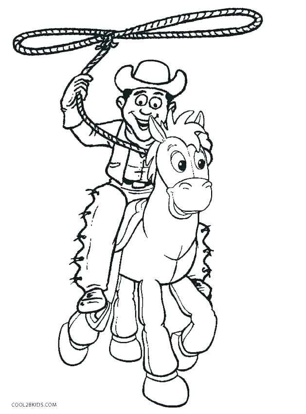 629x850 Cowboy Printable Coloring Pages Cowboy Coloring Pages Cowboy