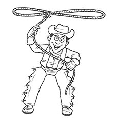 230x230 Top Free Printabe Cowboy Coloring Pages Online
