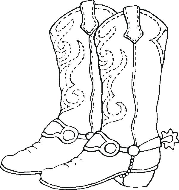 600x639 Cowboy Boots Coloring Pages Cowboy Boots Coloring Pages A Cowboy