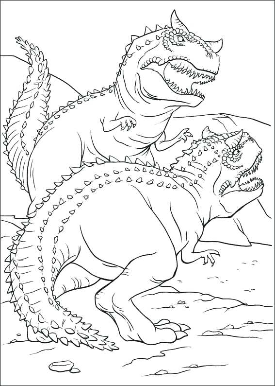 567x794 Dinosaur Coloring Pages Dinosaur Fighting Coloring Page For Kids