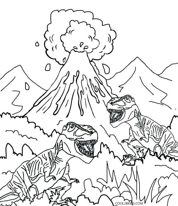 606x700 Dinosaurs Coloring Page Dinosaur Fighting Coloring Pages Dinosaurs
