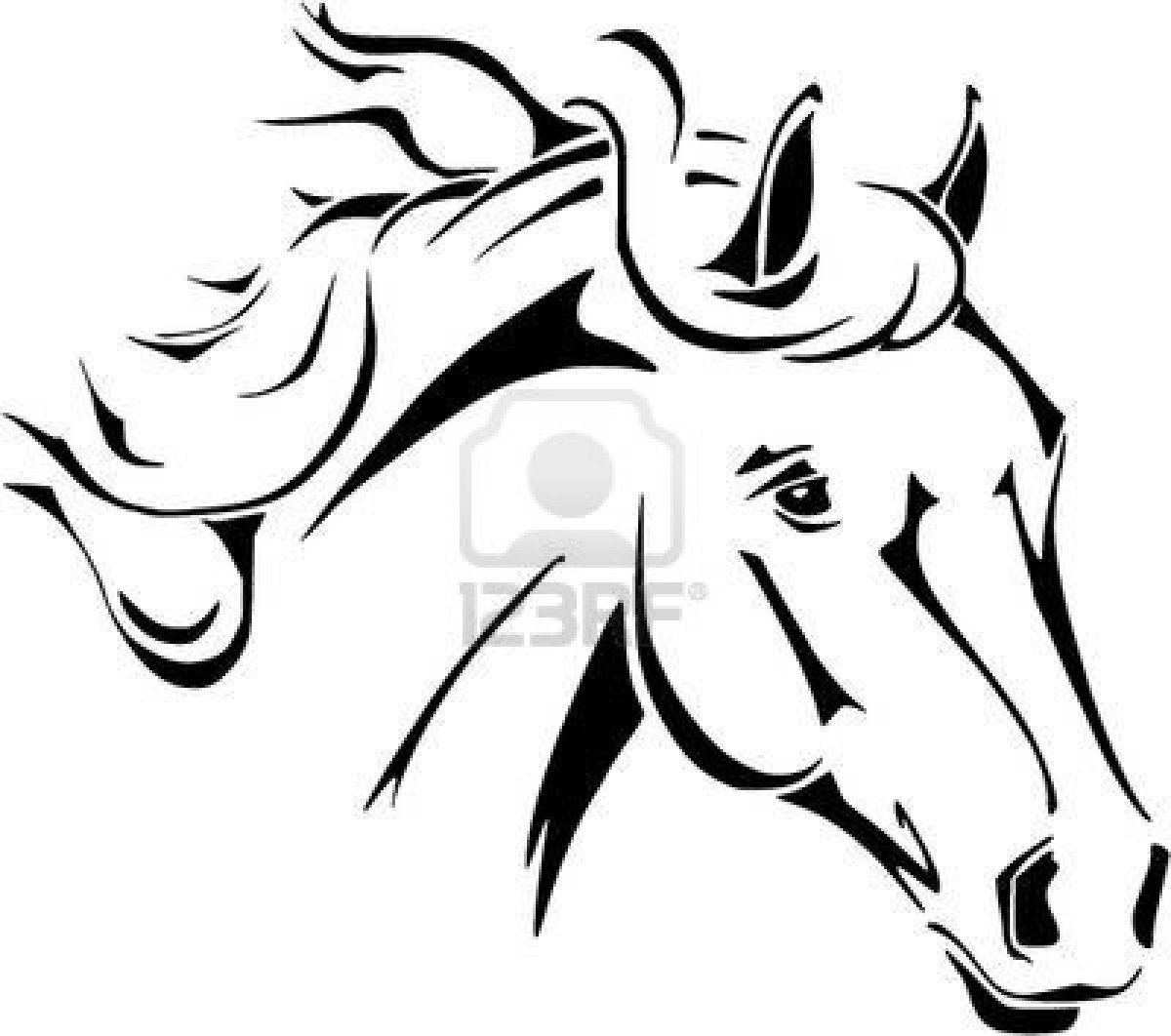 1200x1062 Horse Head Coloring Pages To Print Horse Head Vector In Tribal