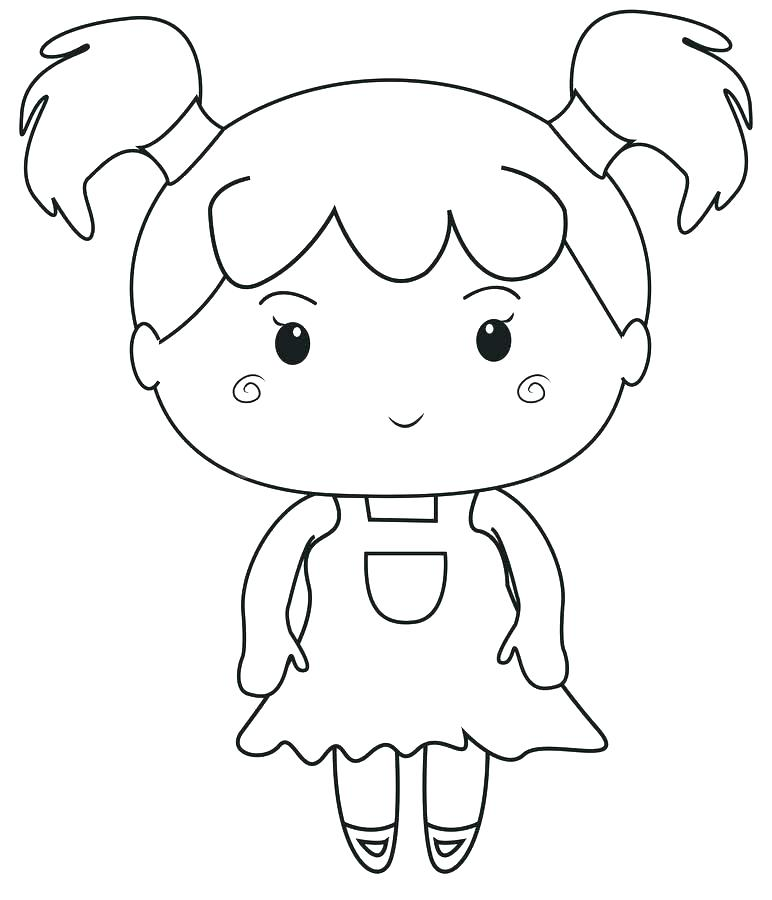 772x900 Cartoon Girl Coloring Pages Cartoon Girl Coloring Pages Girl