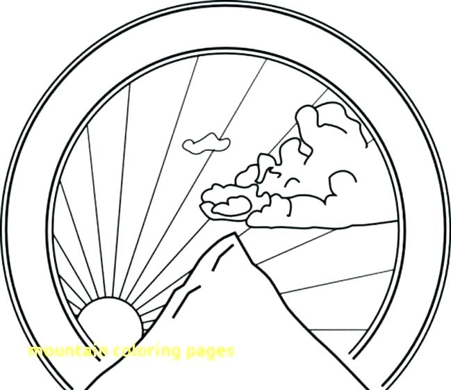649x561 Mountain Coloring Pages Mountain Coloring Pages Mountains Coloring