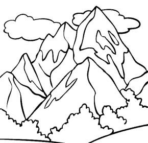 290x280 Mountains Mount Rainier Coloring Page, Mountain Sunshine
