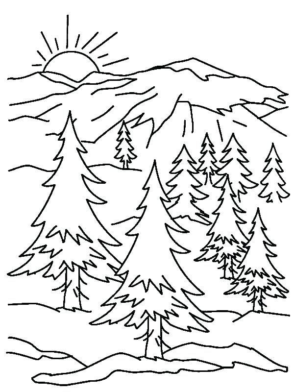 600x800 Mountains Coloring Page Mountain Coloring Page Mountain Printable