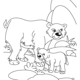 Coloring Pages Of Animals And Their Babies At Getdrawings Com Free