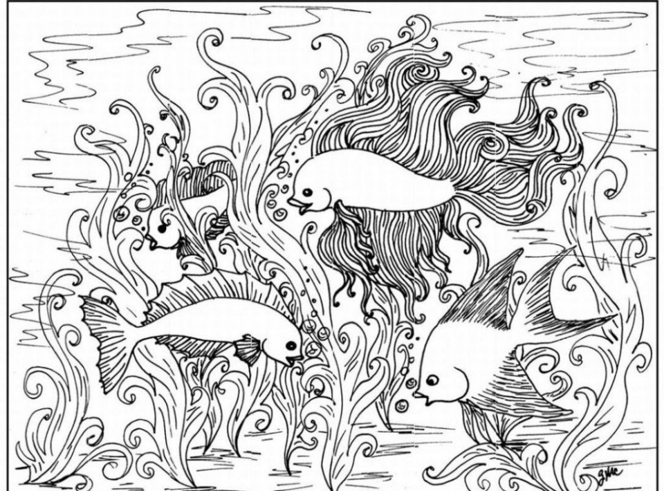 960x710 Free Printable Difficult Animals Coloring Pages For Adults