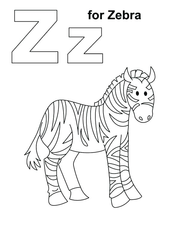 600x776 Cute Zebra Coloring Pages Fresh Color Page Z For Sheets Animals
