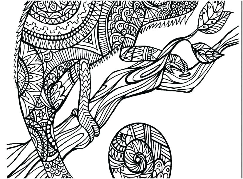 827x609 Hard Adult Coloring Pages Hard Animal Coloring Pages Adult
