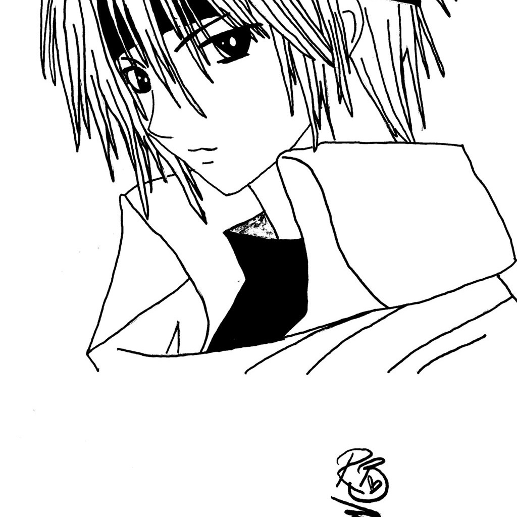 1024x1024 Anime Boy Coloring Pages
