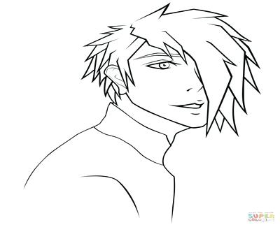400x322 Anime Male Coloring Boy Pages Anime Coloring Pages For Teenagers